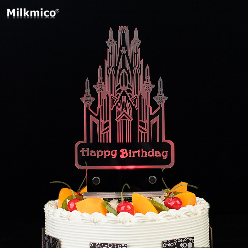 Led Birthday Cake Topper For Kids Baby Birthday Party Decor Candle