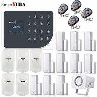 SmartYIBA APP Control WIFI GSM Burglar Alarm System Home Security Alarm Wired Siren Door/Window Sensor PIR Motion Alarm Kits