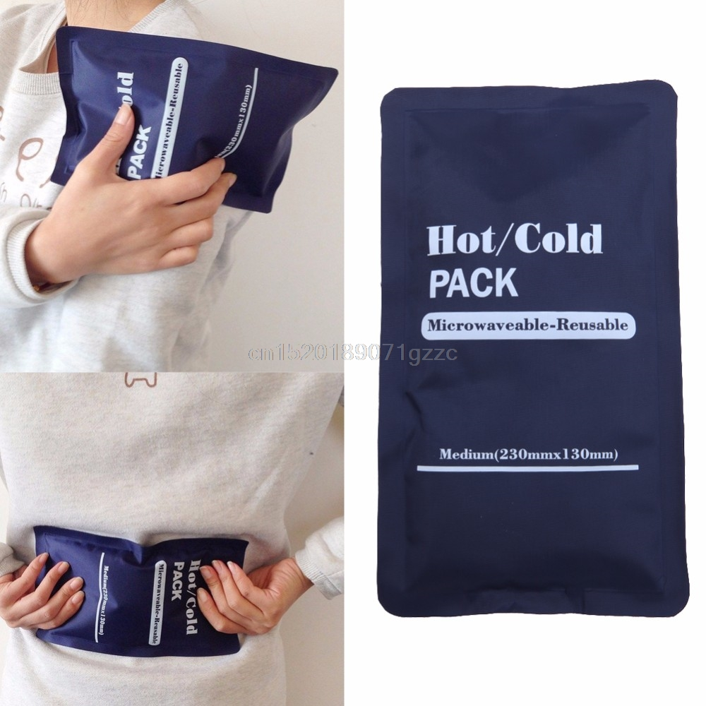Reusable Hot Cold Pack Heat Gel Ice Non Toxic Sports Muscle Back Pain Relief N #H027# common sense relief instant reusable heat pack for back pain neck and shoulders knee