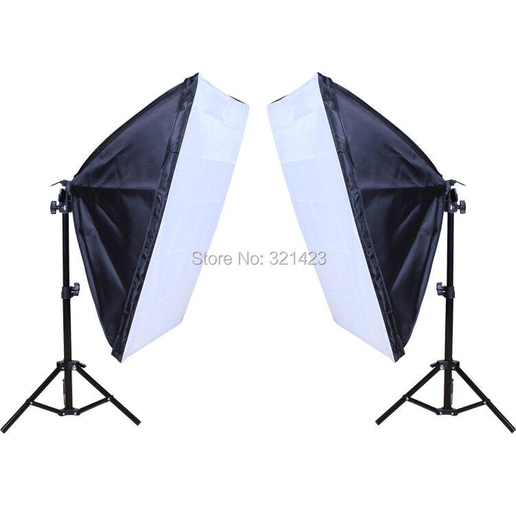 חדש צילום סטודיו אור ערכת תאורה צילום Softbox לעמוד באור 50x70cm softbox