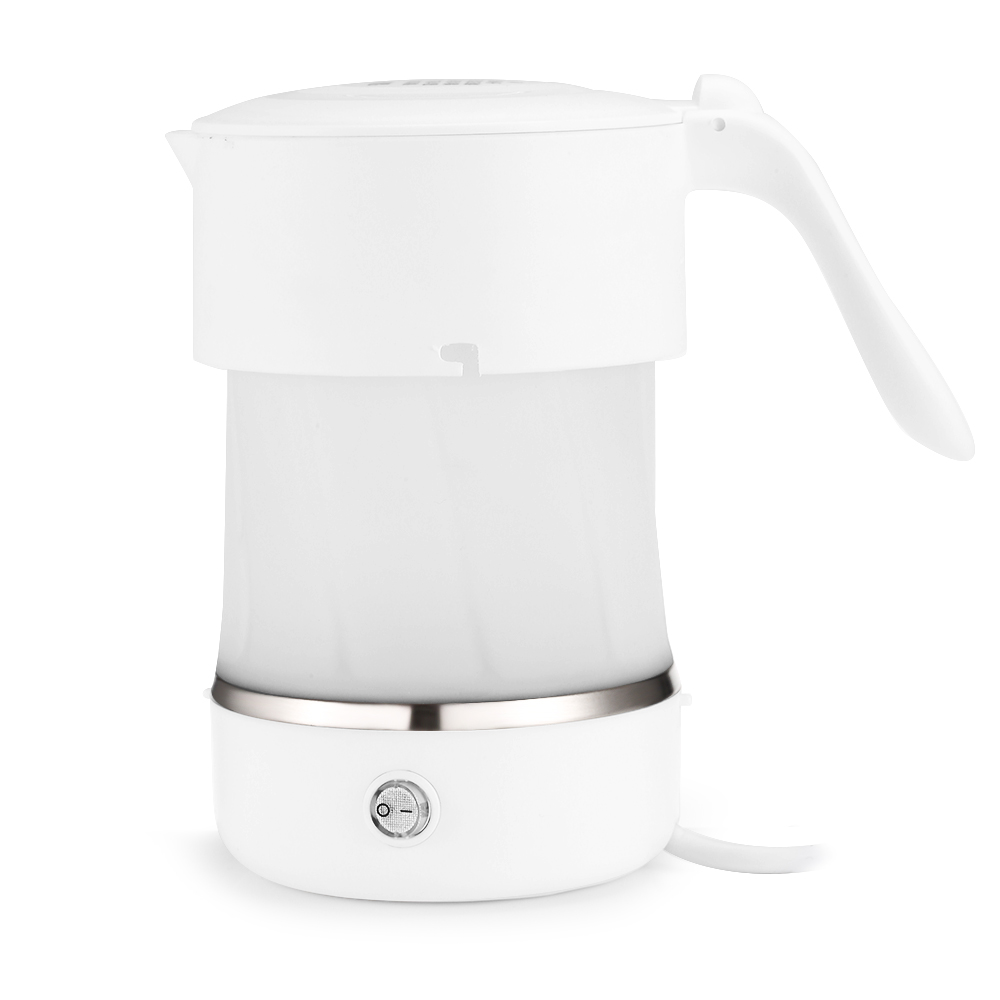 500ml 600W Portable Folding Mini Travel Electric Kettle Stainless Steel Silicone Kettle Body Electric Kettle
