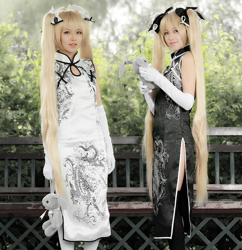 2Colors Anime Yosuga no Sora Cosplay Costume Kasugano Sora Cheongsam