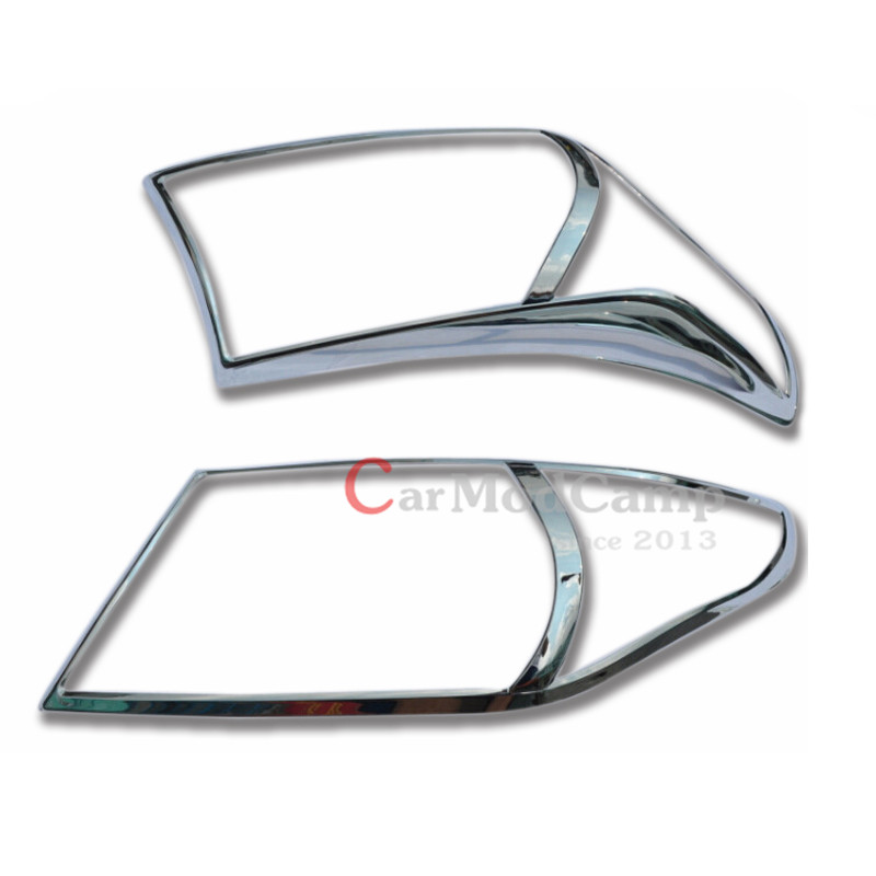 Chrome ABS Front Head Light Lamp Cover Trim 2pcs For Toyota Land Cruiser LC200 2012 2015