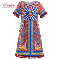 Girl Dress Summer Bohemian Design Short Sleeve Dress Princess For Party Clothing Girls Costumes Kids GD90325-727F