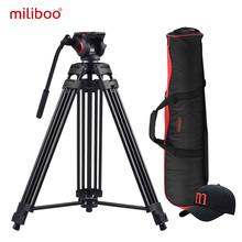 Aluminum Heavy Duty Fluid Head Camera Tripod for Camcorder