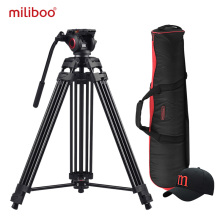 miliboo MTT601A Aluminum Heavy Duty Fluid Head Camera Tripod for Camcorder/DSLR Stand Professional Video Tripod
