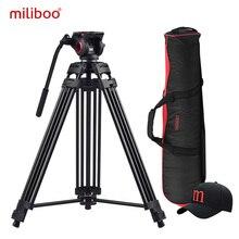 Miliboo MTT601A Aluminium Schwere Flüssigkeit Kopf Kamera Stativ für Camcorder/DSLR Stehen Professionelle Video Stativ