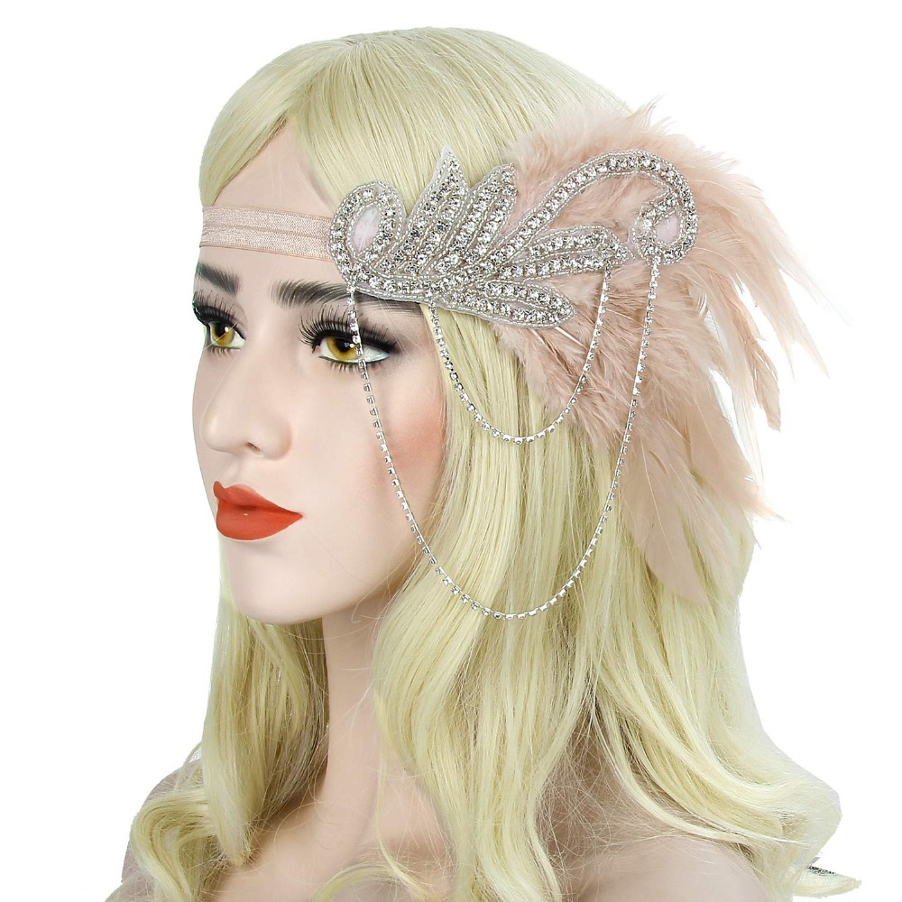 Silver 20s Headpiece Vintage 1920s Headband Flapper Great Gatsby (6)