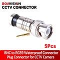5 Unids/lote BNC Conector BNC A Conector Coaxial RG59 Macho Comprassion