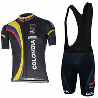 Colombia Pro Maillot Ciclismo Bicycle Wear Short Sleeve Cycling Jersey Summer Road Bike Cycling Clothing Sets