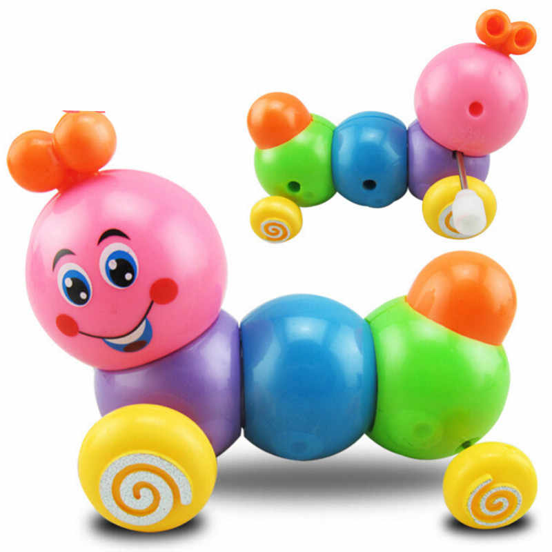 1PC Dos Desenhos Animados do Inseto Colorido Correndo Clockwork Wind Up Brinquedo Do Bebê Super Bonito Infant Developmental Brinquedos de Plástico Mini Toy Educacional