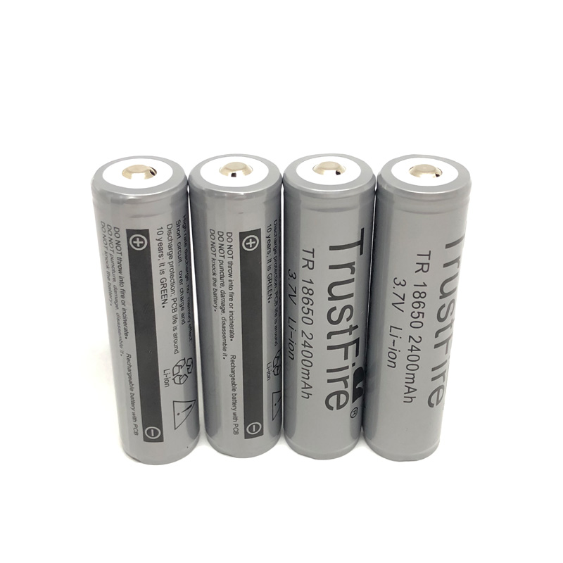 8pcs lot TrustFire Protected TR 18650 3 7V 2400mAh Lithium Battery Rechargeable Batteries with PCB For Camera Torch Flashlight in Rechargeable Batteries from Consumer Electronics
