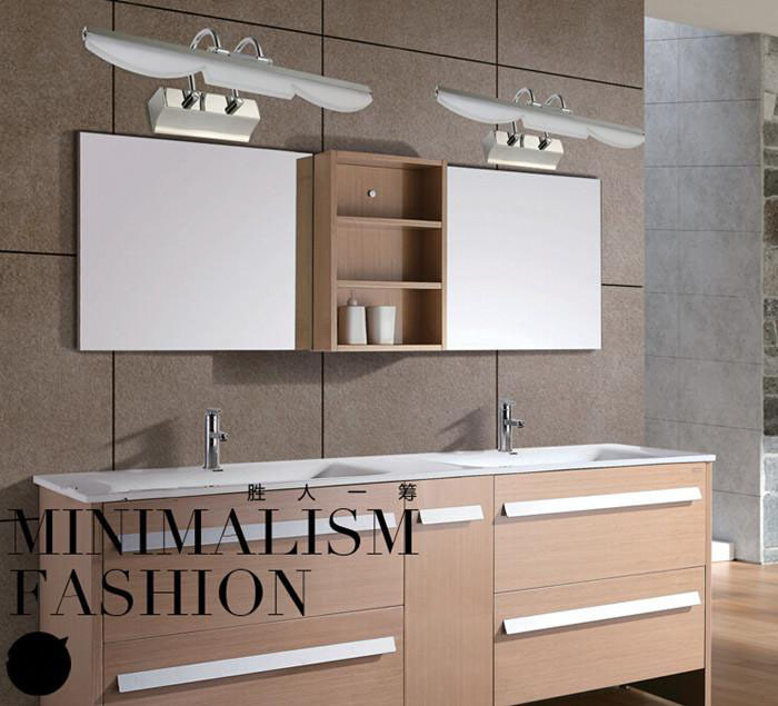 цена на SMD 5050 7W Stainless steel LED Mirror wall lamp Waterproof Bathroom Mirror lamps