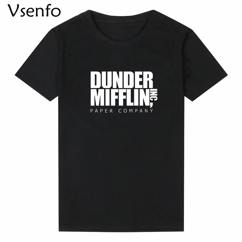 Vsenfo The Office   T     Shirt   Men Women Dunder Mifflin Inc Paper Company Wernham Hogg TV Show Michael Scott Space   T     Shirt