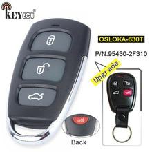 KEYECU P/N: 95430-2F310 FCC: OSLOKA-630T Atualizado 3 + 1 4 Botão Keyless Entry Remoto Chave Fob para Kia Spectra 2003-2007