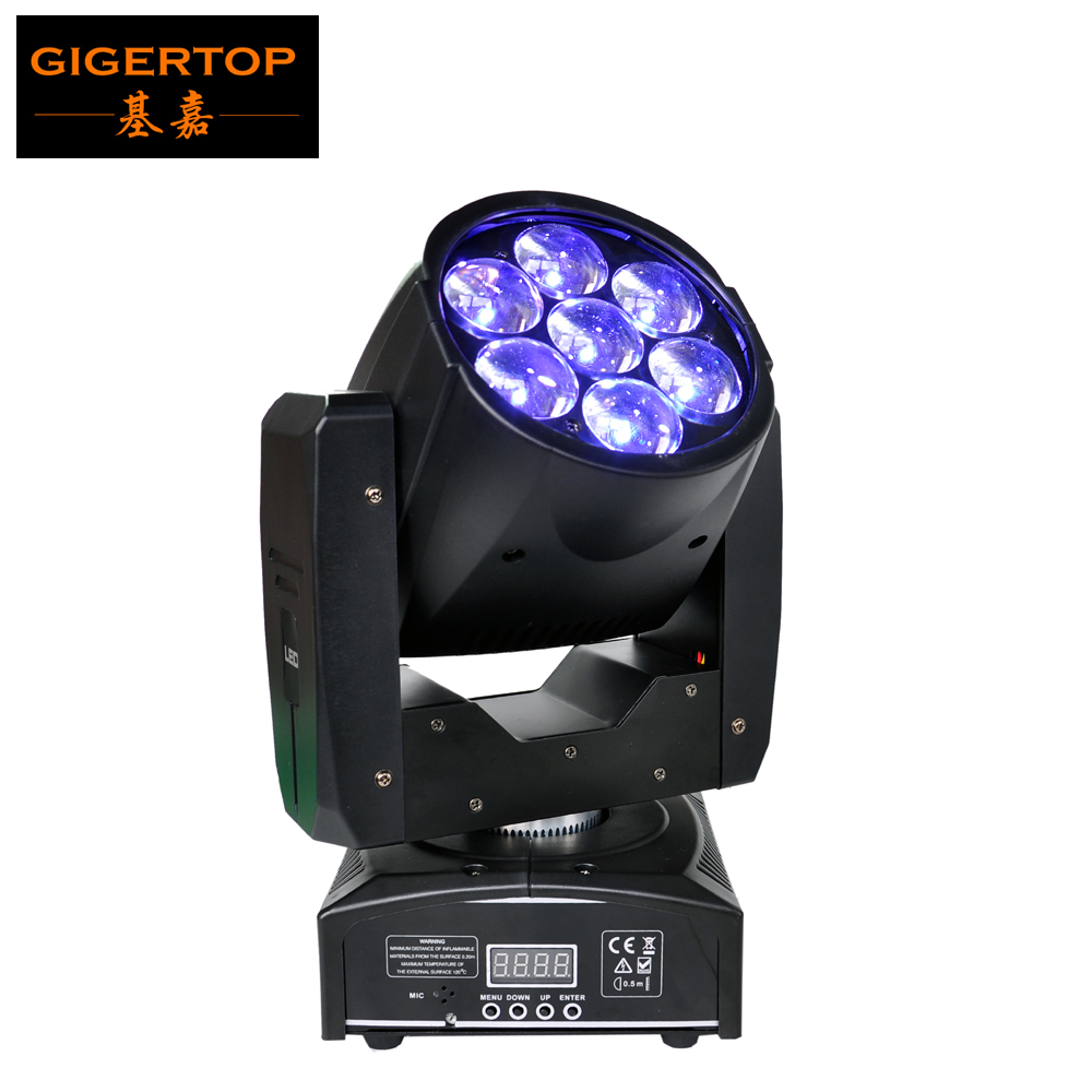 TIPTOP TP-L6W5 7 x12W RGBW 4in1 Zoom Wash Beam LED Bee Eyes Moving Head lights for stage disco DMX 16 Channels Light Weight цена