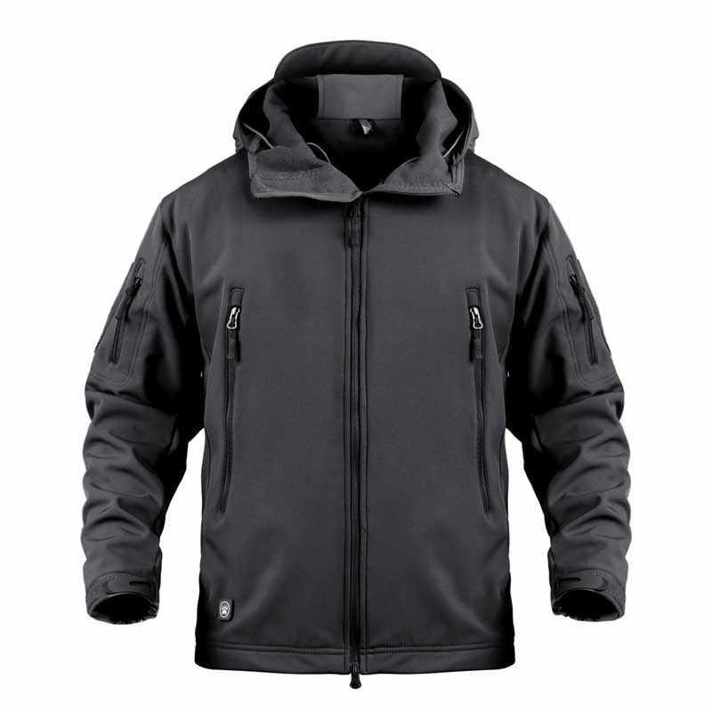 新着男性防雨防風熱迷彩ソフトシェルコート屋外スポーツ釣り作業戦術服着用