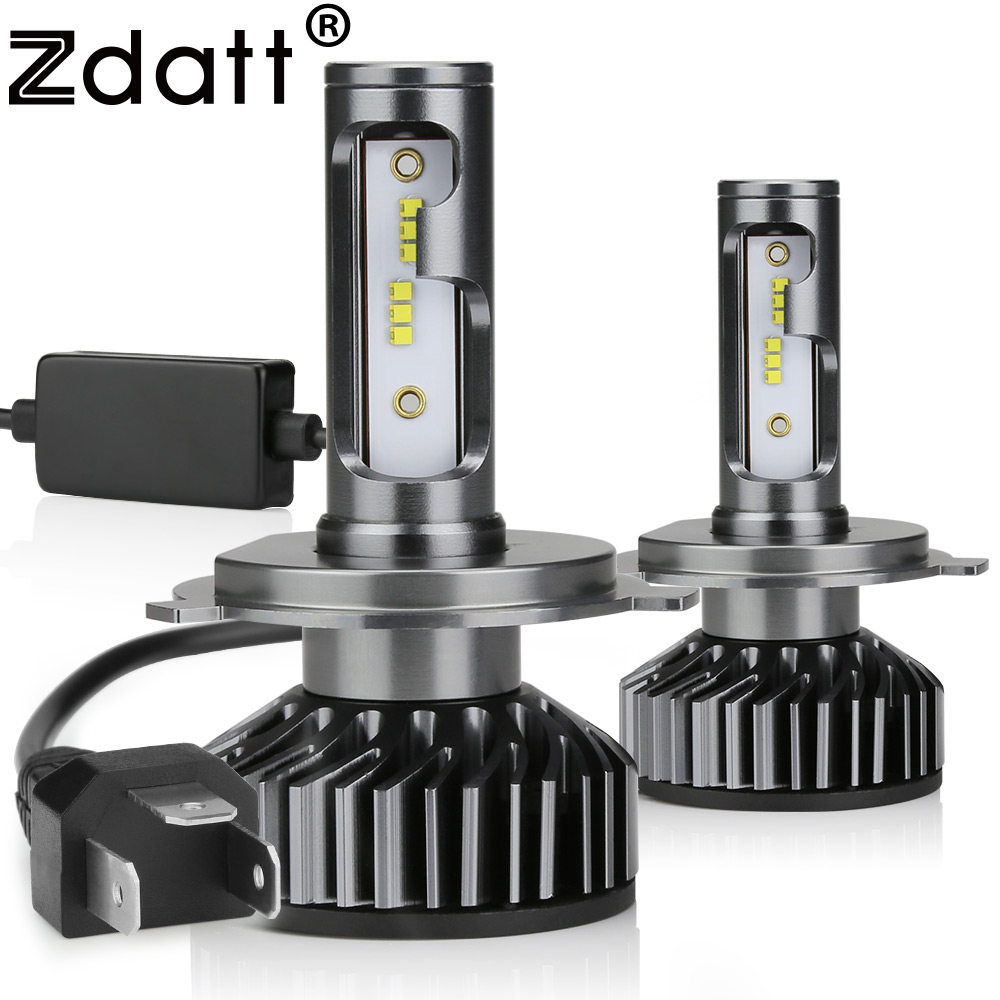 Zdatt H7 LED H4 ZES Car Light Canbus LED Headlight Bulb H1 H8 H9 H11 HB3 9005 9006 HB4 12000LM 100W LED 6000K 12V 24V Auto Lamp