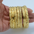 1 UNID/Dubai Oro Del Brazalete de La Joyería de Moda Al Por Mayor, Chapado En oro NUEVA Brazaletes de Oro Pulsera Brazalete de Etiopía África Árabe Etíope