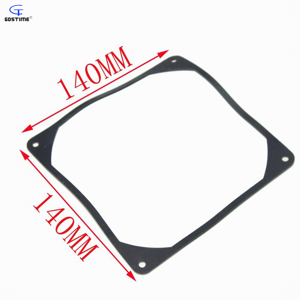 1 PCS Free Shipping Black 14cm 140mm Fan Anti vibration Gasket Silicone Shock Absorption Pad for PC Case 20pcs lot computer pc case fan mounting pin anti rivets silicone shock absorption reduction noise vibration silicone screws