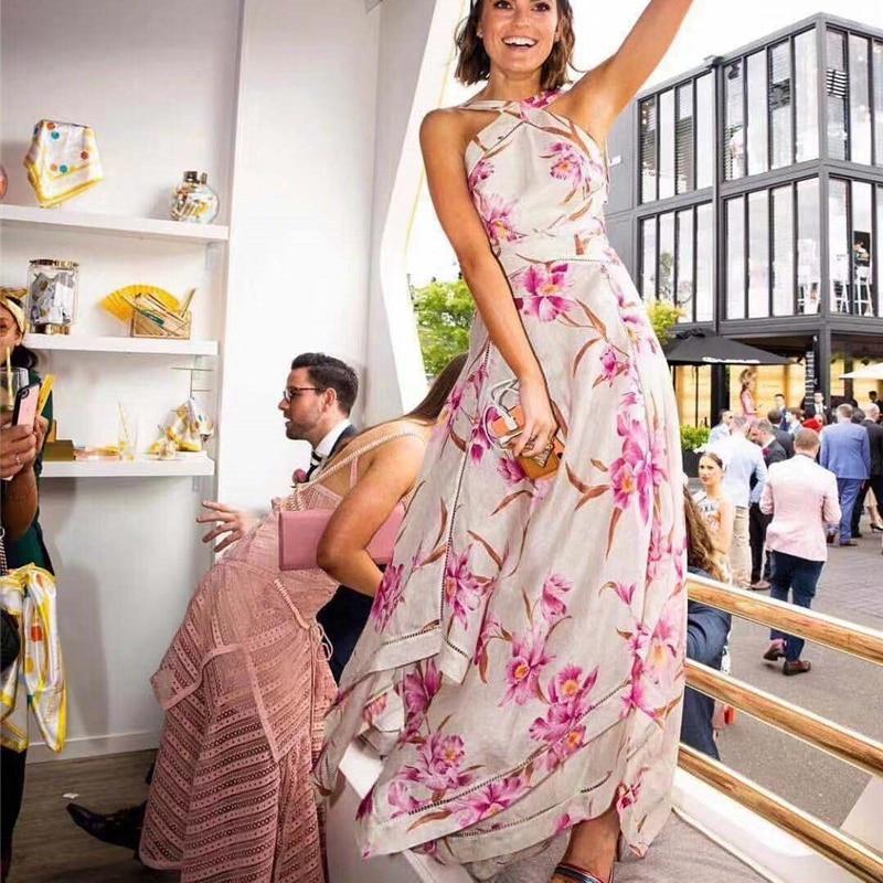 Robe Imprimer Beach 2019 Robes Long Sexy Off Femmes Épaule TpfwP