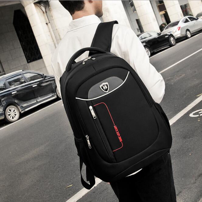newhotstacy bag 10091417 new men's oxford double shoulder large bag school student book backpack