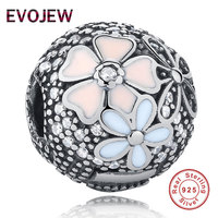 EVOJEW Aliexpress 100 925 Sterling Silver Poetic Blooms Beads Fit Original Pandora Charm Bracelet Authentic Luxury