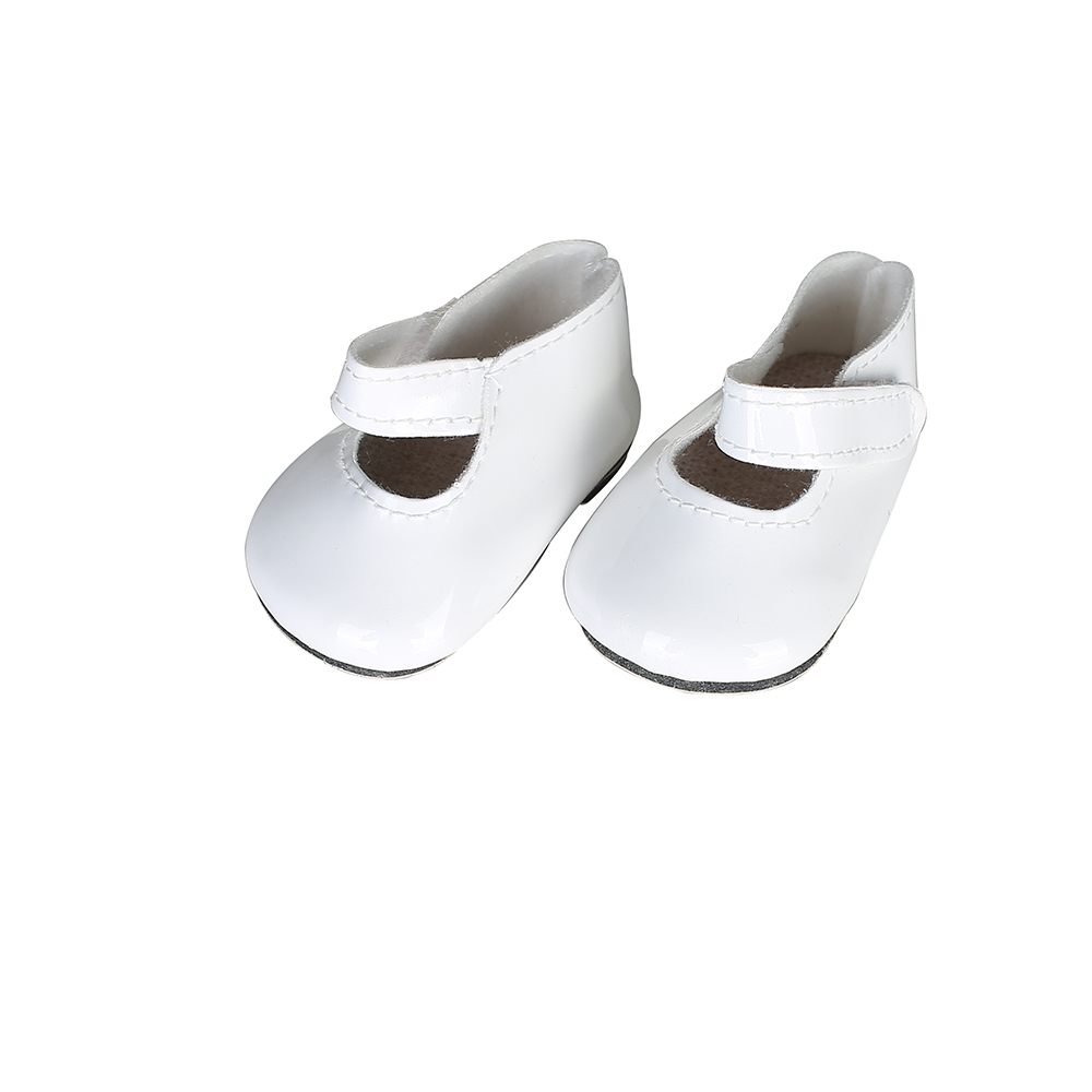 Doll accessories, high quality white leather shoes for 18 inch American Girls & Our generation of dolls, the best gift n414