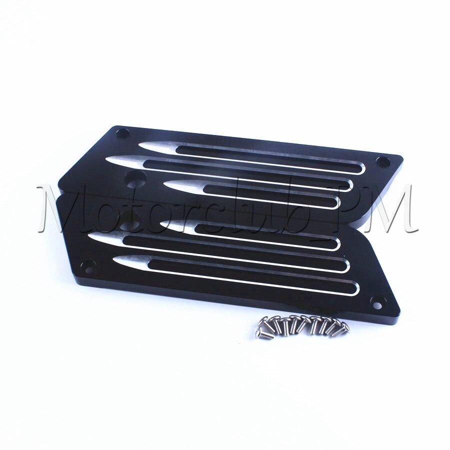 2шт мотоцикла край вырезать заготовки CNC Жесткий фиксатор крышки для осмотра модели 1993-2013 2011 2012 черный алюминий