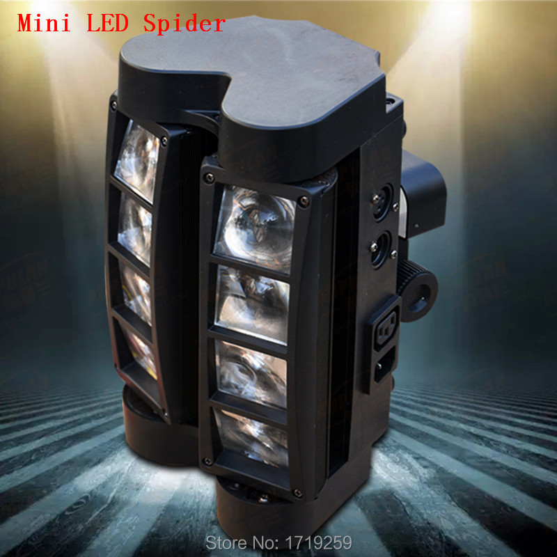 где купить 4pcs/lot RGBW  Mini LED Spider Beam Light LED 8x6W Bar Beam Moving Head Beam LED Spider Light RGBW Free Shipping дешево