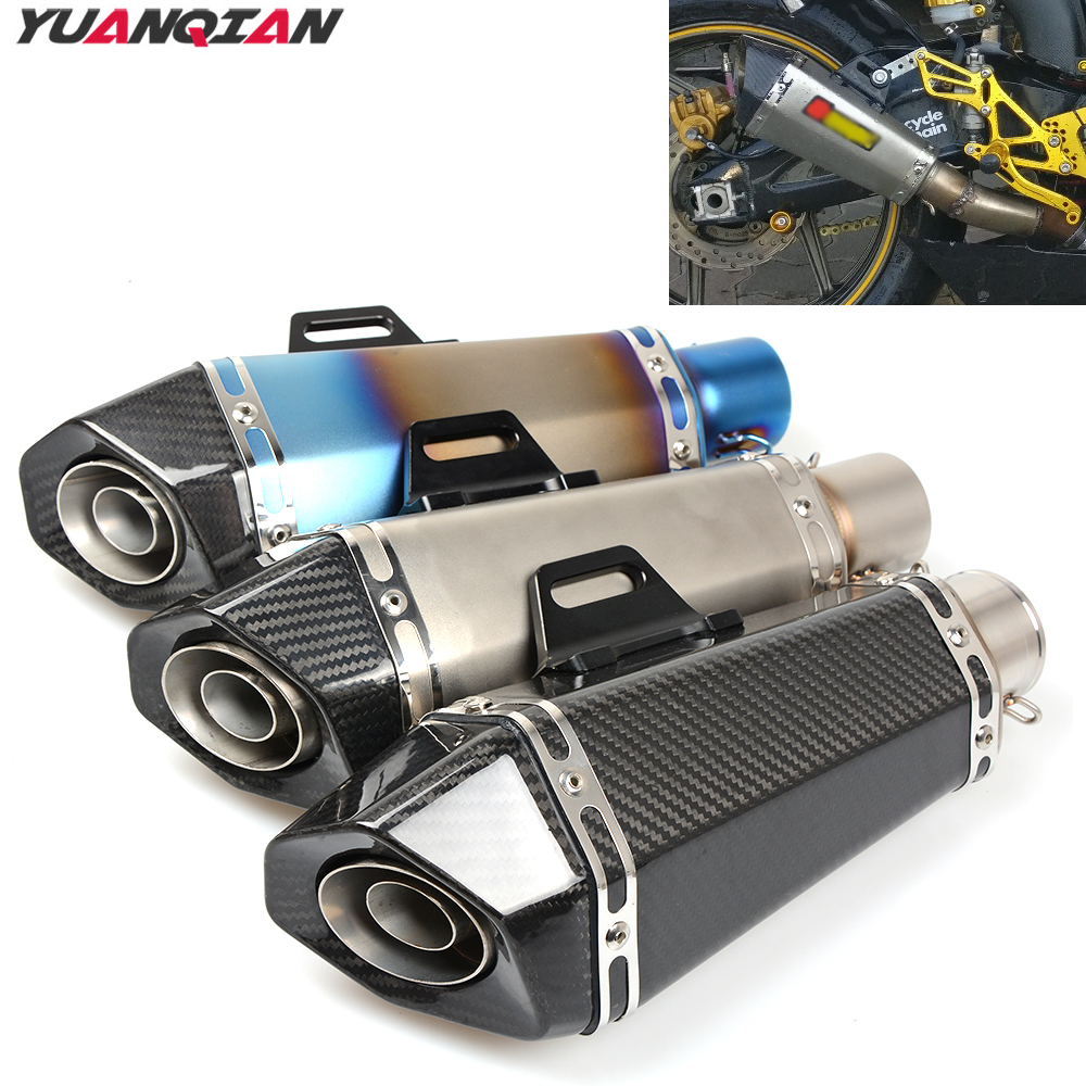 Universal Motorcycle Scooter exhaust Escape Pipe Muffler Pipe For YAMAHA TTR 250 90 600 TW200 WR250R WR250X WR450F XT660 XT 660 motoo free shipping 61mm stainless steel universal escape moto motorcycle motorcross scooter exhaust pipe muffler