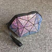 هندسي شبه دائرة الزينة حقيبة fashional حقيبة ماركة ماكياج التجميل حقيبة للمرأة