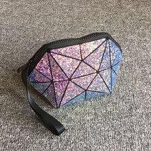 geometric semi circle cosmetic bag for women toiletry bag fashional makeup bag brand