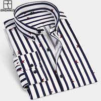 ERIDANUS Fashion New 2017 Men Long Sleeve Shirts Male Striped Classic Fit Comfort Soft Cotton Casual