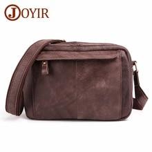 JOYIR Cow Genuine Leather Crossbody Bag Vintage Men Messenger Bags Small ipad Shoulder Casual Travel Street Male bolsas