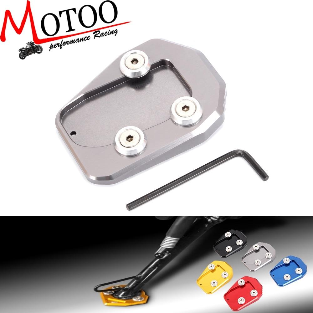 BJ Global CNC Motorcycle Kickstand Foot Plate Side Stand Plate Kickstand Extension Pad Enlarger For Yamaha MT09 FZ09 2014-2018