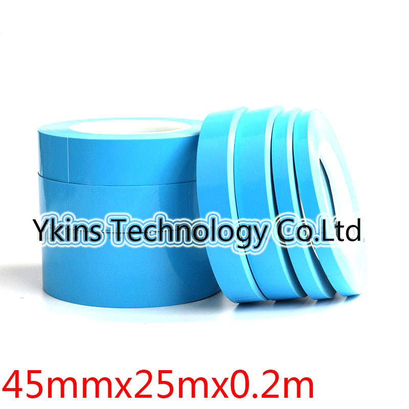 45mm*25m Glass fiber Thermal double-sided adhesive tape Thermal Thermally Conductive Tape heat conduction Tape for LED PCB double sided glass fiber prototyping pcb universal board 12 piece pack