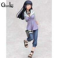 GonLeI 20cm Instock Naruto Uzumaki Naruto Hyuuga Hinata Keychain Action Figures Anime PVC brinquedos Collection Model toys