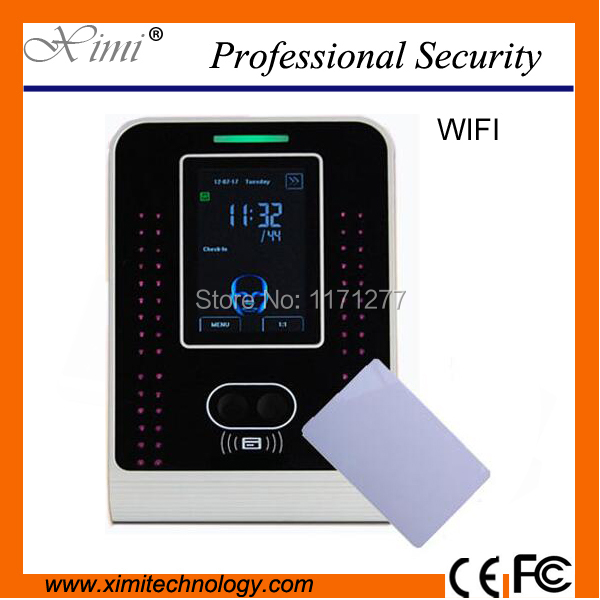 Linux system WIFI communications VF500 Face time attendance device color camera and 10000 IC Card capacity time attendance clock
