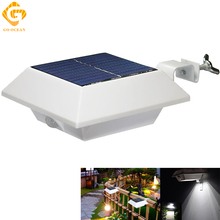 LED Solar Light White Super Bright Yard Lamp Solar Panel Garden Lights 6 LED Outdoor Home decoration Wall Fence Garden Lighting retro super bright led solar pillar lights waterproof outdoor garden porch lamp energy saving lighting luminaria decoration