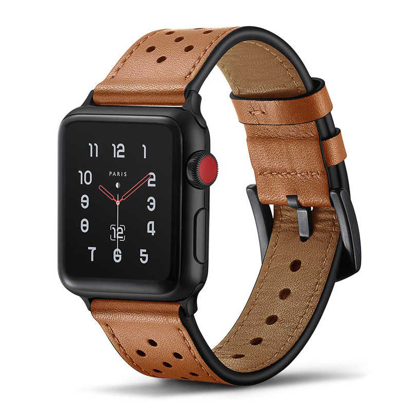 Genuino correa de cuero para apple watch 4 banda 42mm 38mm correa de la venda de reloj para iwatch correa 44mm 40mm 3/2/1