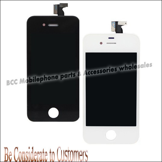 ФОТО 100% original new for iPhone 4s LCD Display+Touch Screen digitizer+Frame Assembly completed White Or Black Free Shipping