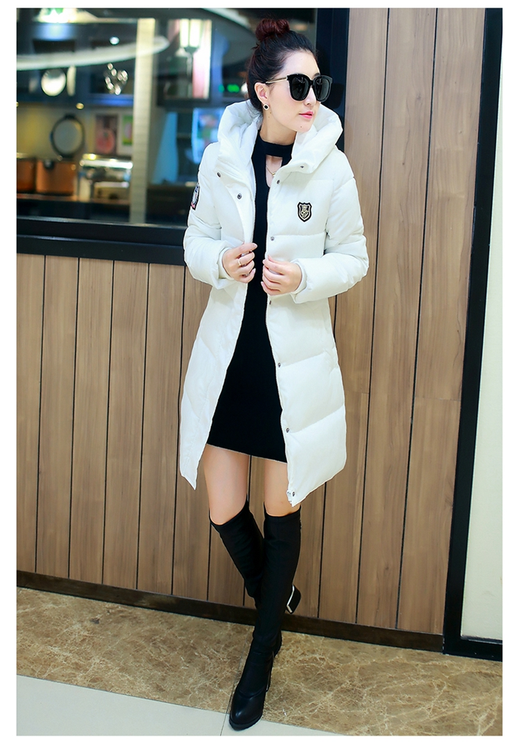 ФОТО 2016 new autumn and winter 2016 women's cotton long sections Slim Down padded jacket bread service