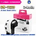2 рулона Универсальный DK-11219 этикетка совместимый для брата принтер этикеток Диаметр 12 мм круглые все приходят с пластиковым держателем