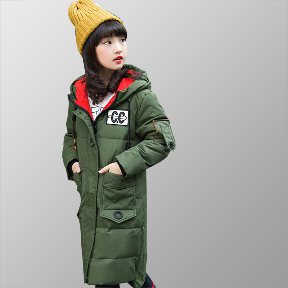 Girls Winter Jacket 80% White Duck Down Warm Baby Girl Outerwear Coat Kids Clothes Children Clothing Down Jacket for Teen Girl цена