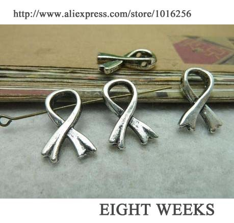 Zinc alloy pendant jewelry accessories diy handmade material charms bowknot is perforated bow tie against HIV