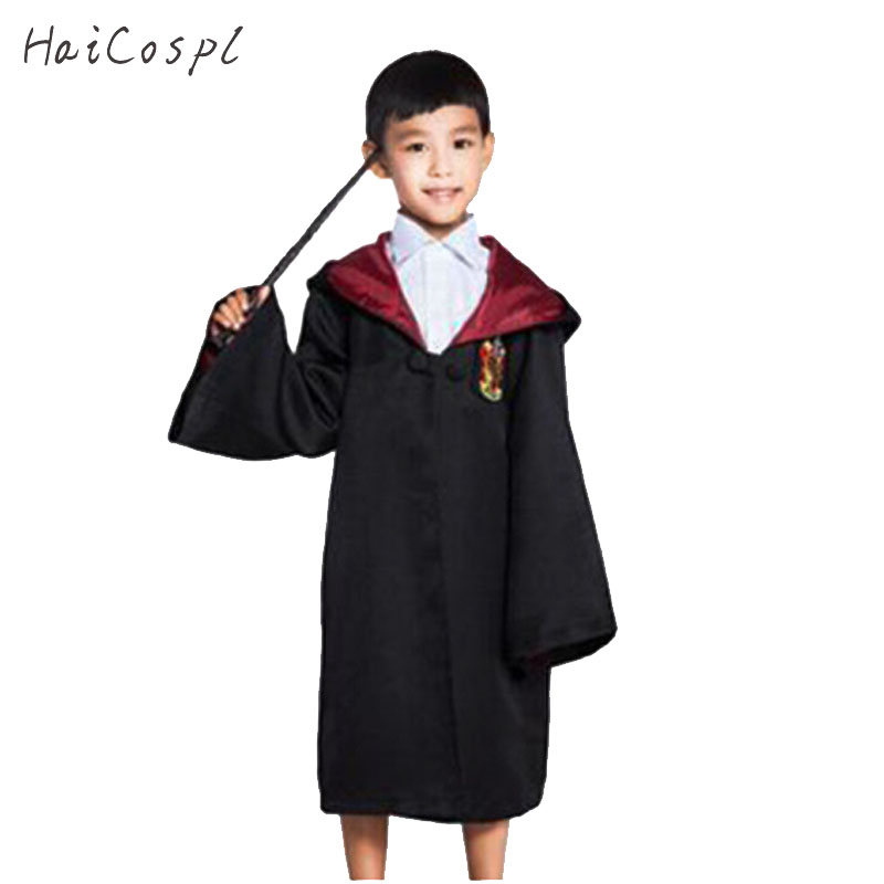 Gryffindor Cosplay Costume Robe Cloak Kids School Uniform Slytherin Ravenclaw Hufflepuff Cape Boys Grils Covers Role Play Fancy
