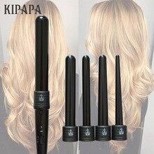 KIPAPA 5 P bukle makinesi Saç Bigudi 9 32 MM Profesyonel Kıvırmak Ütüler 0.35 ila 1.25 Inç Seramik Şekillendirici Araçları saç Maşası Değiştirilebilir