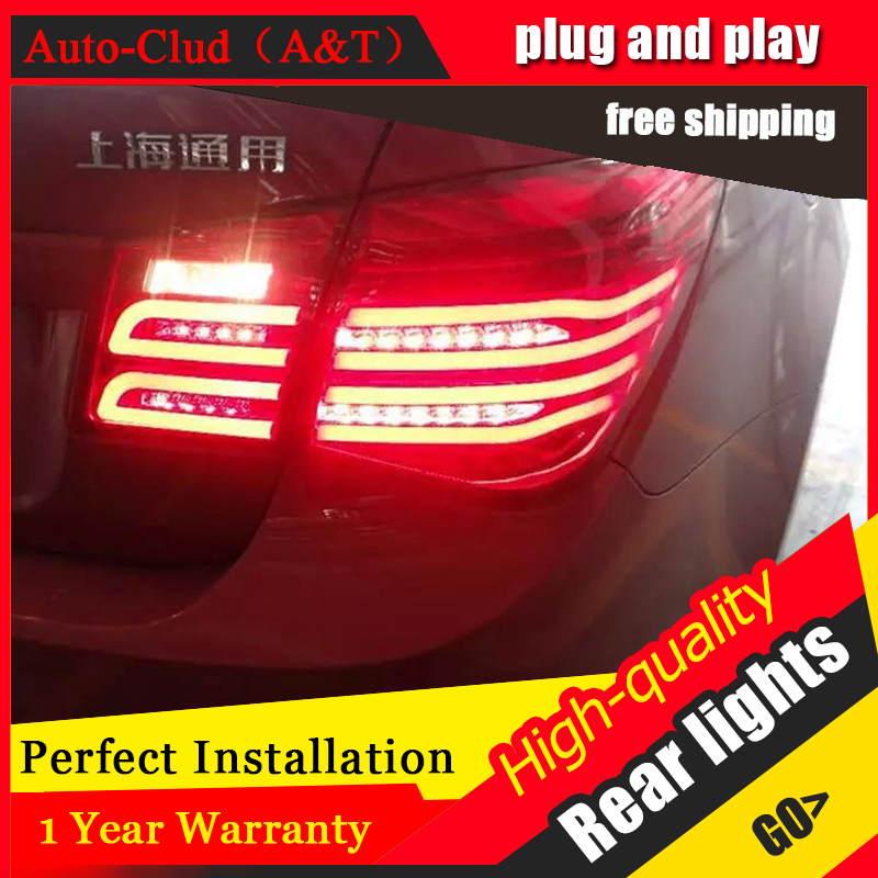 Auto Clud Car Styling for Chevrolet Cruze Taillights New Cruze Sedan LED Tail Lamp GLK LED Rear Lamp DRL+Brake+Park+Signal led l en car styling led tail lamp for chevrolet cruze 2009 2014 sedan taillights rear light drl turn signal brake reverse accessories