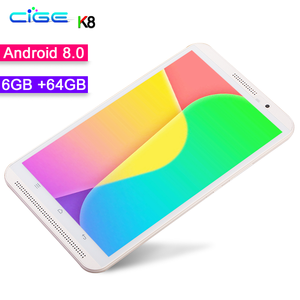 New Arrival 8 Inch Tablet Pc Phone Call Android 8.0 Octa Core 3G 4G LTE Mobile Tablets Dual SIM WiFi 1280x800 IPS Screen 6GB RAM